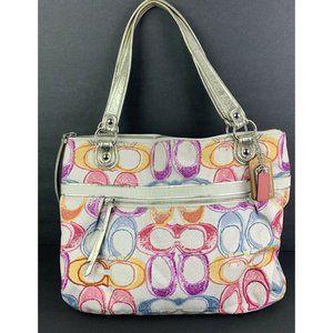 Coach Poppy Dream Handbag Multi Signature Optic